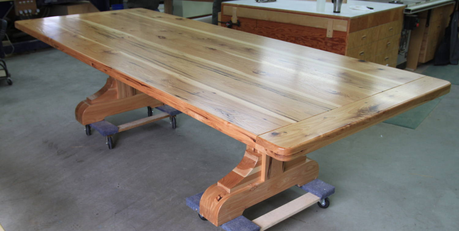 rustic hickory dining table and chairs